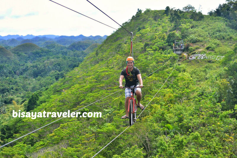 The Breathtaking Bike Zipline At The Chocolate Hills Adventure Park